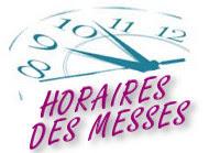 Horaires des messes en juin