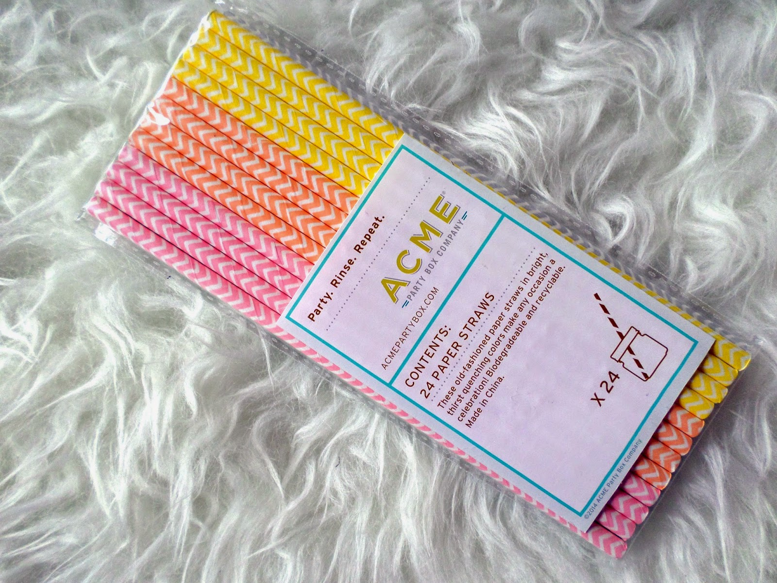 PopSugar Must Have Box ACME Party Box Chevron Straws