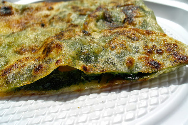 gozleme- spinach and feta