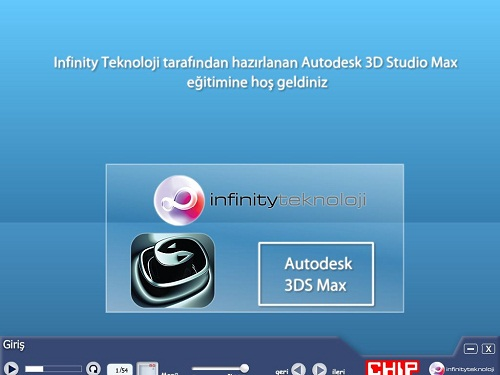 3ds MAX Görsel Eğitim Seti | Chip Dergisi | 250 mb