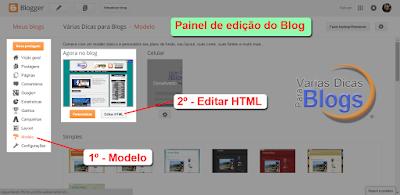 Editando HTML do Blog