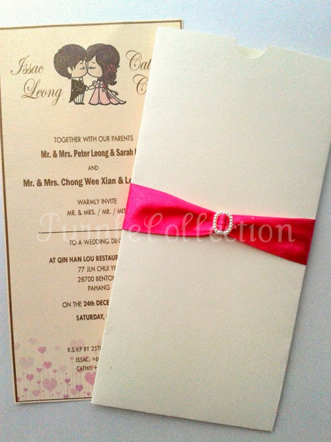 Sidling Envelope Wedding invitation Card, Sidling, envelope, wedding, invitation, card, sidling card, wedding card, invitation card, wedding invitation card, pocket style, pink, pink ribbon, sidling envelope, wedding, marriage