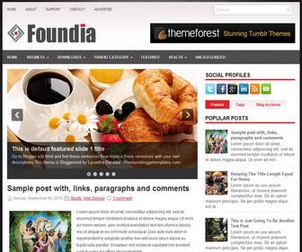Foundia 2 Column Blogger Template