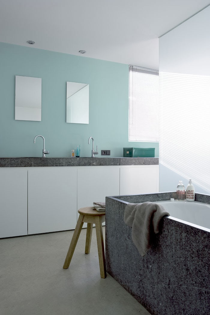 Male murvegg vaskerom