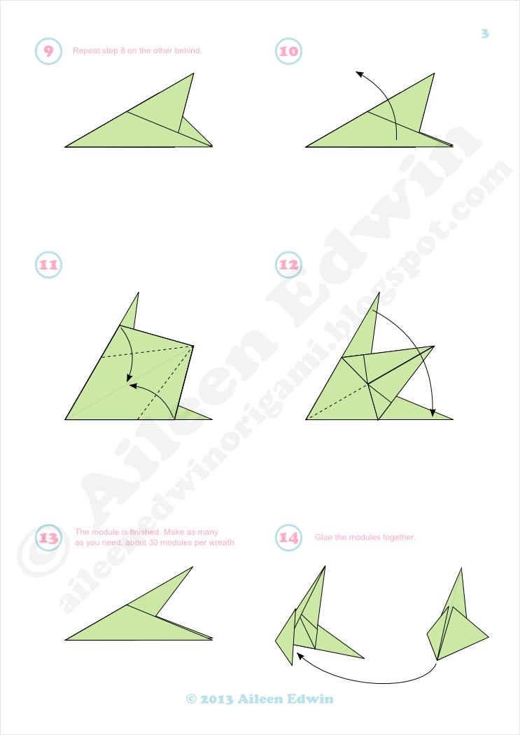 Modular Origami Wreath Diagrams (Aileen Edwin)