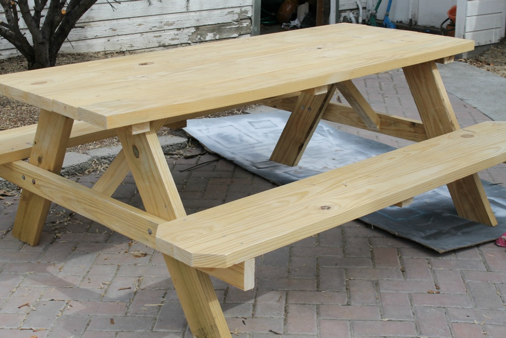 The Wicker House- Lowe's Outdoor Table
