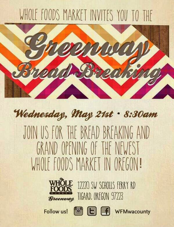 Whole Foods Market: Greenway Bread Breaking grand opening