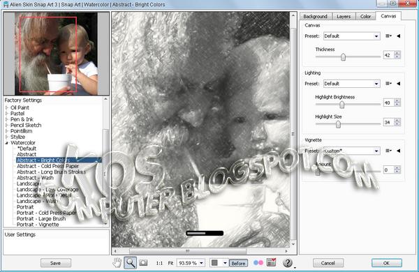 Alien Skin Snap Art 3.0 Full Version - Merupakan plugin untuk photoshop dan