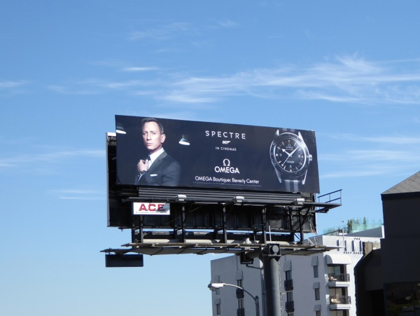 Daniel Craig 007 Spectre Omega watch billboard