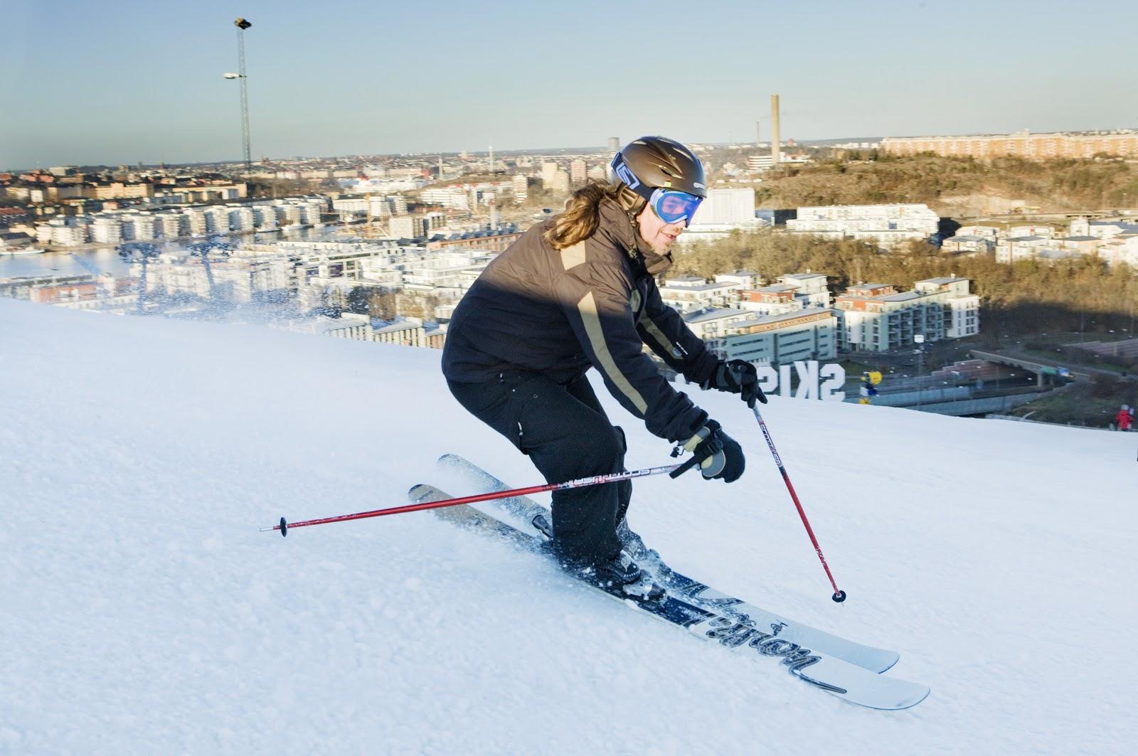 the stockholm tourist: ski slope in stockholm is open!