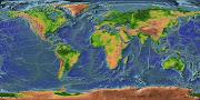 Esse mapa foi feito com a ajuda de satélites, seria impossível fazêlo da . (terra mapa )