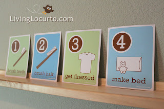 Free printable morning routine cards for kids