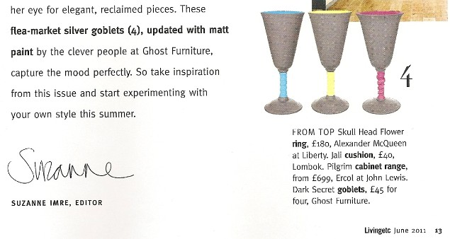 Ghost Furniture on Living Etc's Editor's Page
