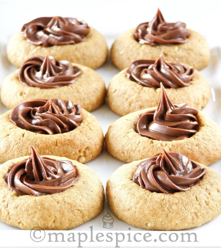 maple•spice: Hazelnut Espresso Thumbprint Cookies
