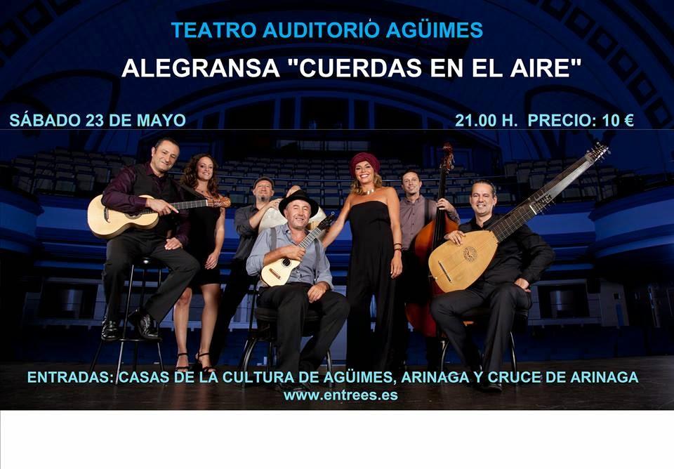 """Alegransa presenta """"Cuerdas en el aire"""" en Agüimes"""