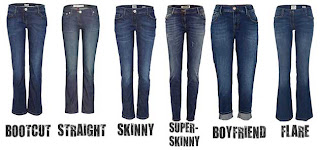 variety of jean styles