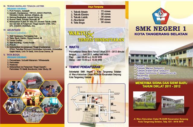 BROSUR SMK NEGERI 1 TANSGEL TP  2012 2013