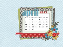 april 2013 desktop calendar sample