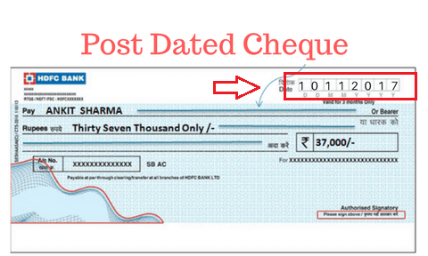 Post dating a cheque