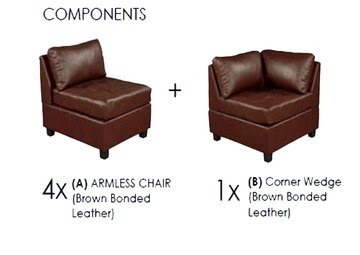 Buy online Lucas Brown Contemporary Furniture Set of Sofa