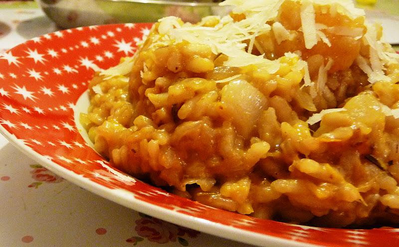 """The Vegetarian Experience: Pumpkin Risotto- """"Risotto di Zucca"""""""