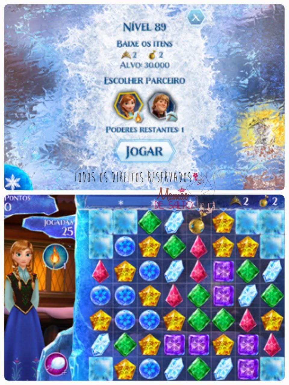 dica de aplicativo iphone e ipad jogos Frozen Free Fall - blog Mamãe de Salto