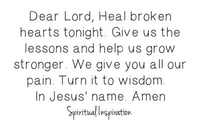 Prayers to heal a broken heart