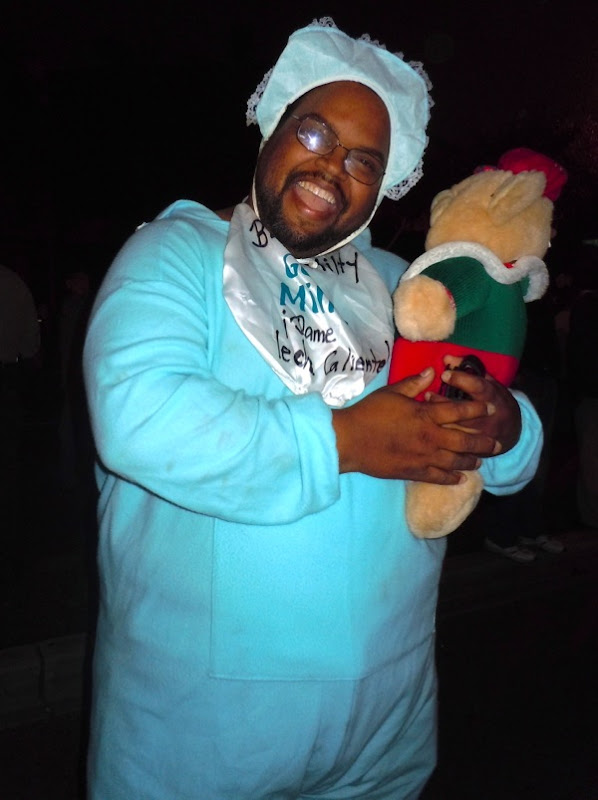 Big baby costume West Hollywood Halloween Carnaval