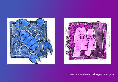 Мужчина-скорпион и женщина-близнецы совместимость гудман