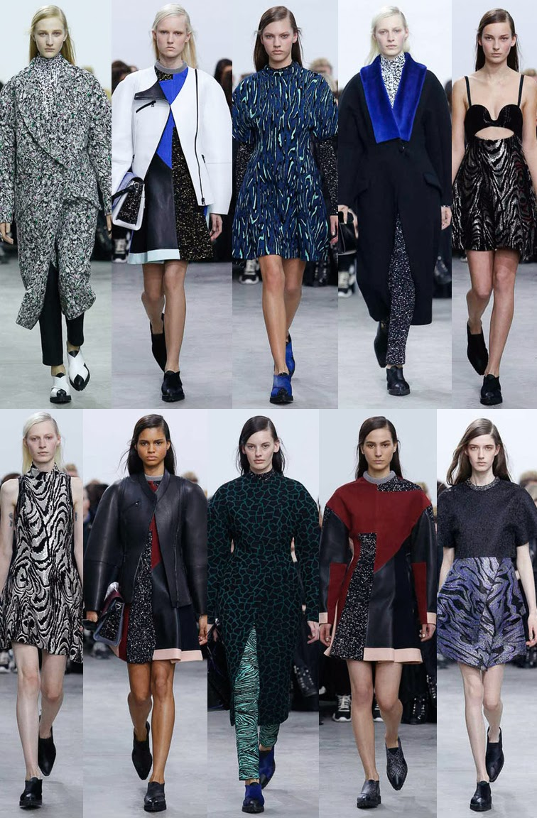 Proenza Schouler fall winter 2014 runway collection, NYWF, fashion week, Jack McCollough, Lazara Hernandez