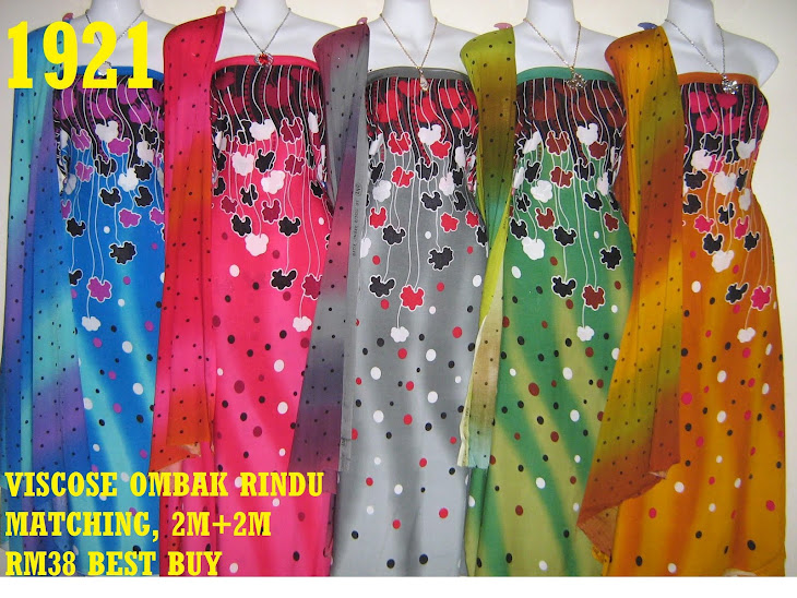 VOM 1921: VISCOSE OMBAK RINDU MATCHING, 2M+2M, 5 COLORS