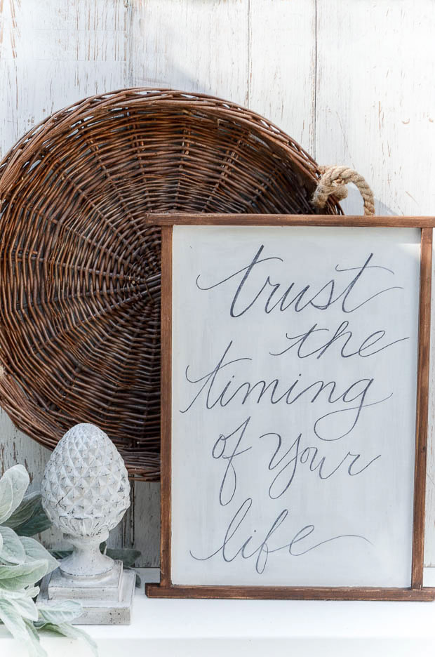 Display your favorite handwritten quote as a source of constant inspiration.