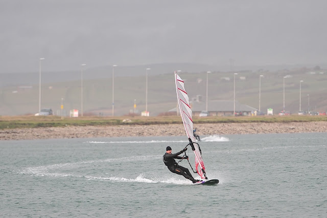 Hot Sails GPS 7.3, 35cm Type S Black Project Fin, Exocet RS2, Lea Spencer, portland harbour