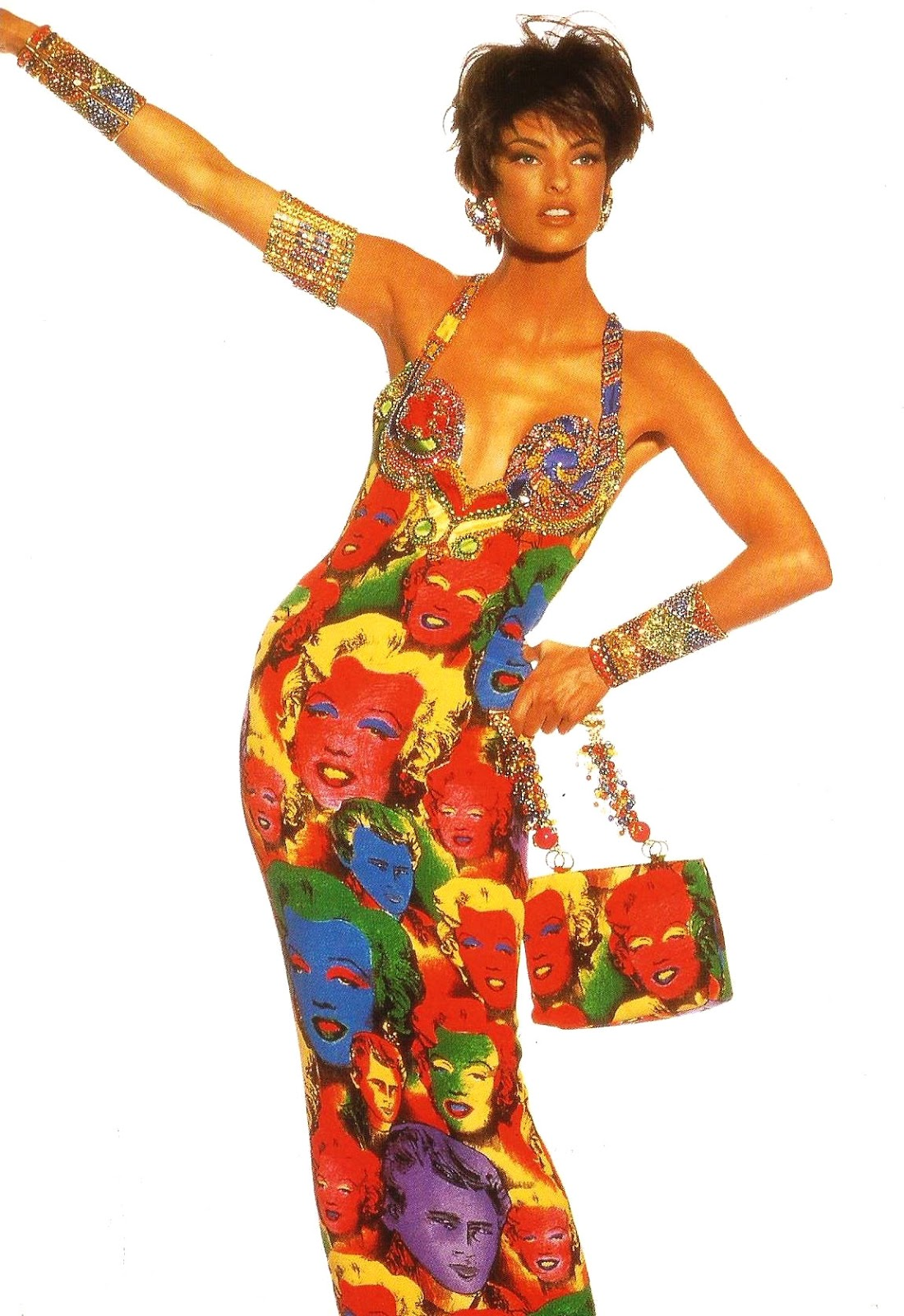 Linda Evangelista in Versace via fashioned by love