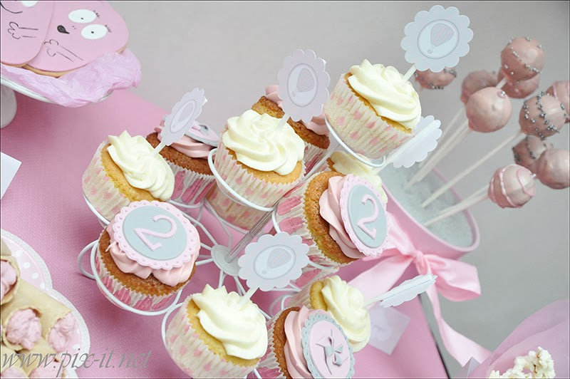 Cupcakes anniversaire 2 ans