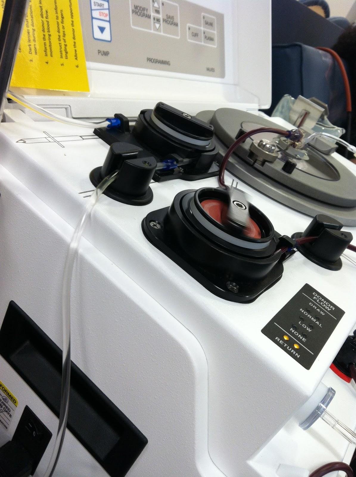 plasma donation machine