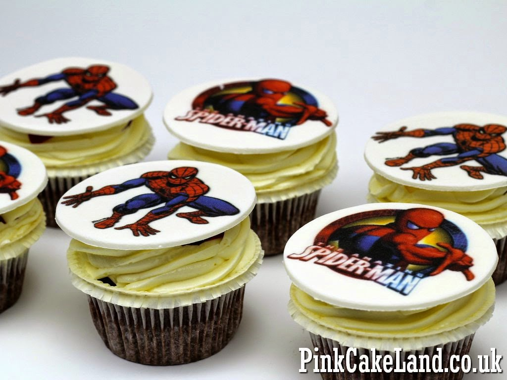 Spiderman Birthday Cupcakes for Kids