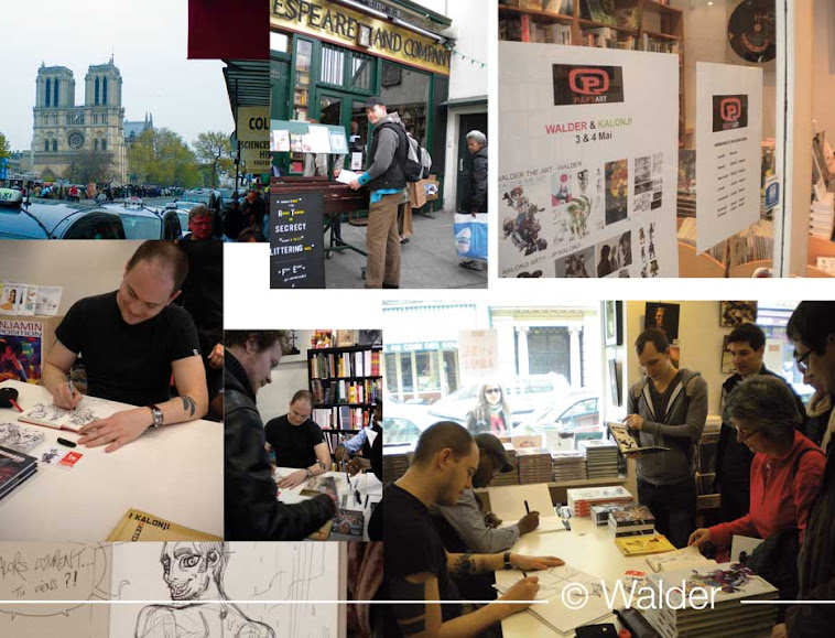 dédicace à Paris - signing in Paris - Walder the art - trinquette edition
