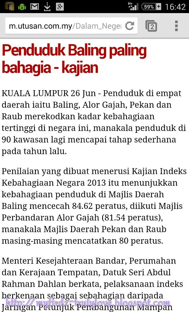 Daerah Baling adalah Daerah Paling Bahagia di Malaysia!