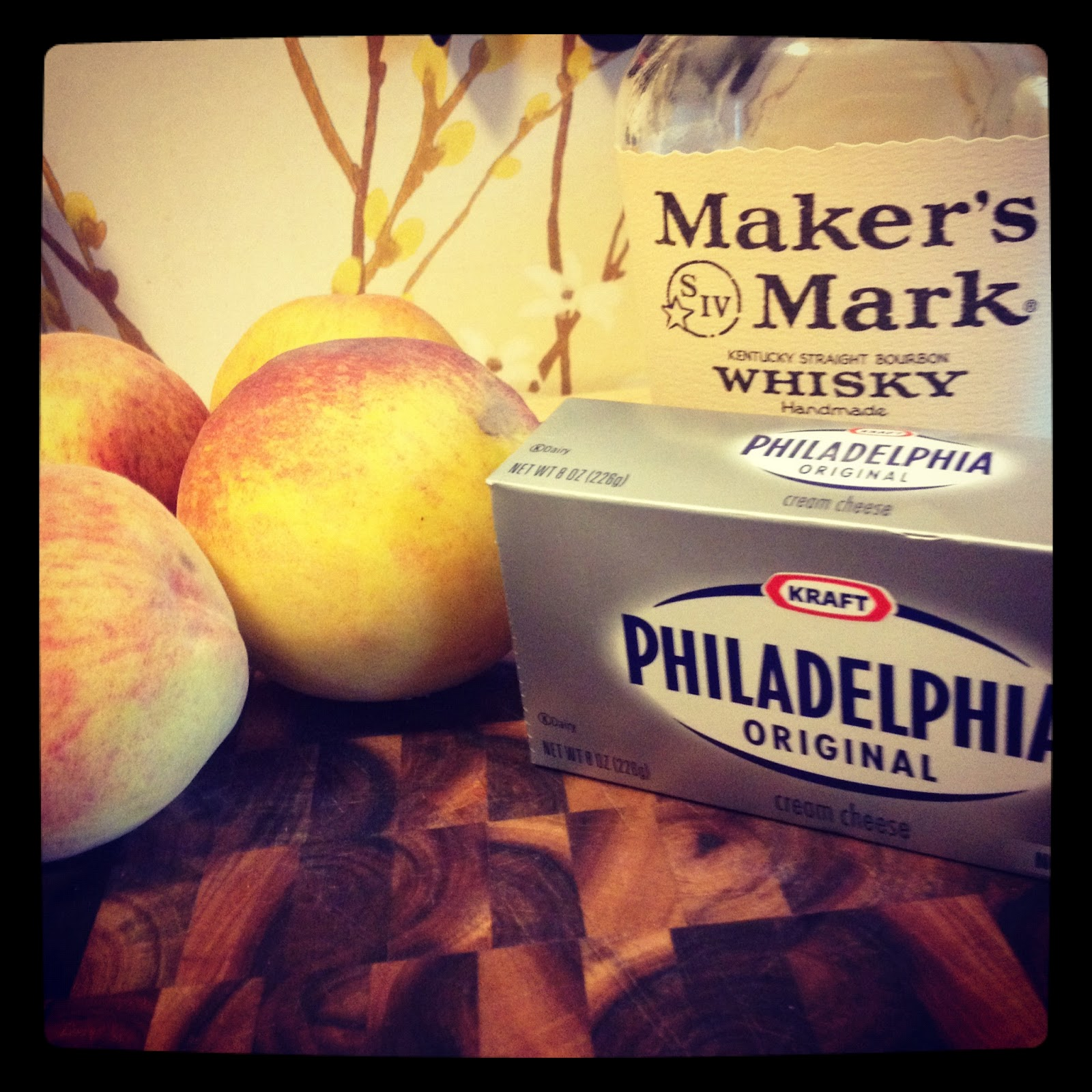 Recipe: Bourbon Roasted Peach No Bake Cheesecake   Bourbon & Chocolate