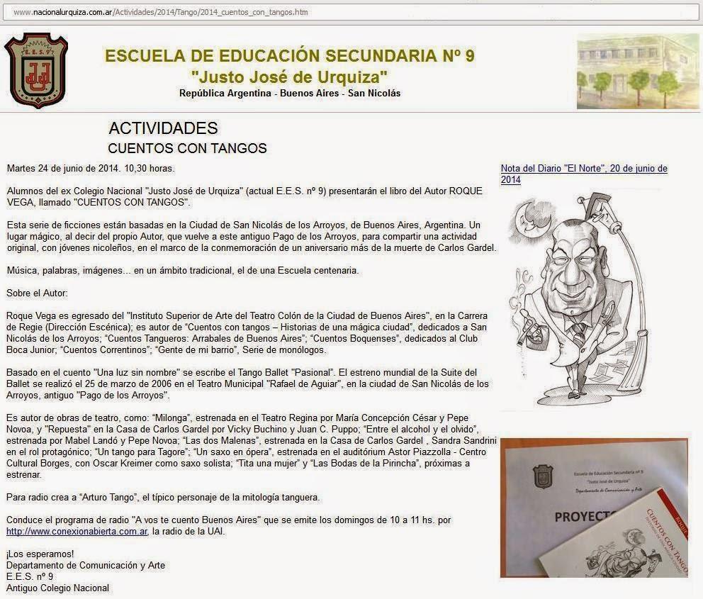 GARDEL EN SUS MONUMENTOS: En el Colegio del Uruguay - Provincia de ...