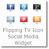 Flipping TV icon Social Media widget for Blogger/Wordpress