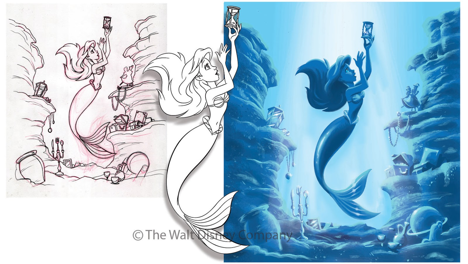 Ron Cohee Portfolio Art Of Animation Resort Mermaid Shower Curtain Blue
