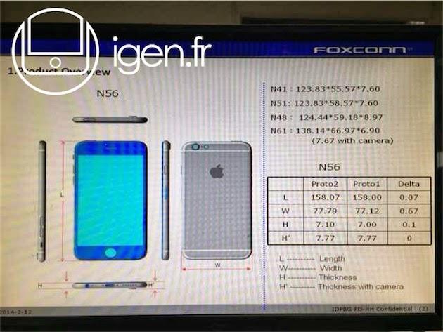 iPhone 6 尺寸流出