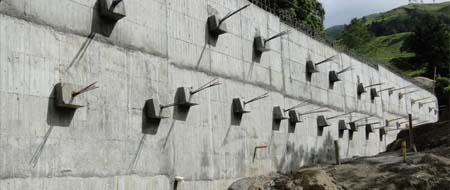 Muro anclado