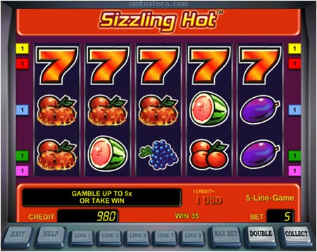 sizzling hot play free online games
