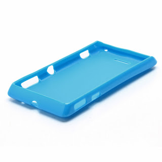 TPU Jelly Case Cover for Sony Xperia L S36h C2105 C2104 - Blue
