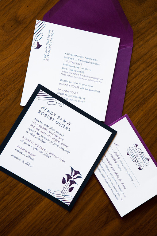 red life wedding invitation design wendy robert chicago il