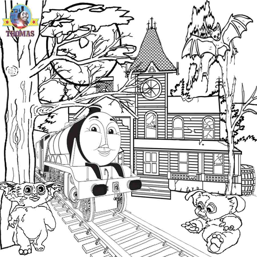 Thomas And Friends Gordon Train Gremlins Printable Pictures Free Halloween Coloring Pages For Kids