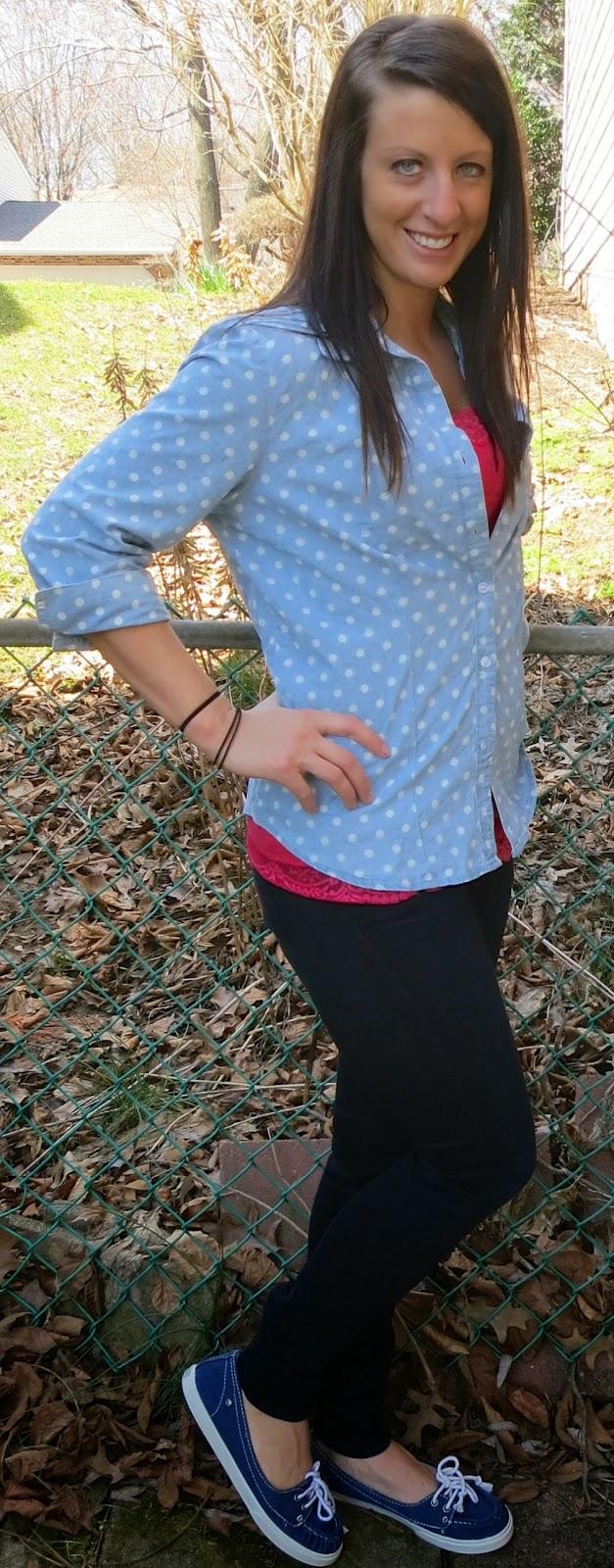 polka dot blouse, fashion, outfit, target